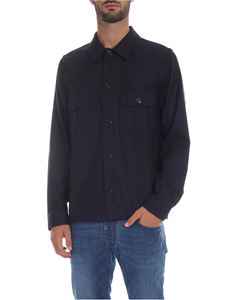 PS by Paul Smith - Camicia Overshirt in lana blu
