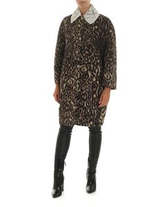 Ermanno Scervino - Animalier coat with jewel collar