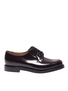 Church's - Shannon 2 Derby shoes in burgundy