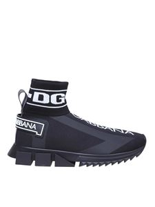 Dolce & Gabbana - Sorrento high top sneakers in black