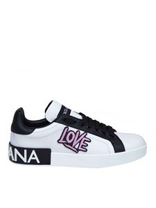 Dolce & Gabbana - Portofino sneakers in nappa with LOVE insert