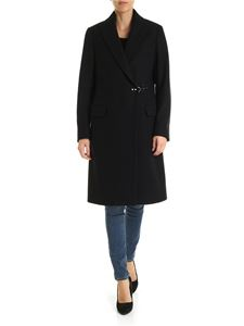 Fay - Black double-breasted coat with Fay hook