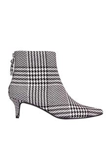 Kendall + Kylie - Kara ankle boots in black and white tartan