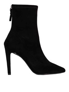 Kendall + Kylie - Orion ankle boots in black stretch suede