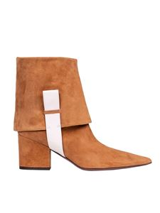 L'Autre Chose - Cigar ankle boots with white detail