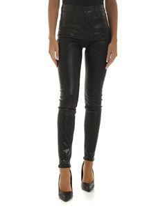 J Brand - Black trousers with animalier pattern