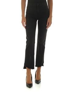 J Brand - Black jeans with fringed bottom