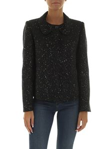 Emporio Armani - Short black jacket with sequins