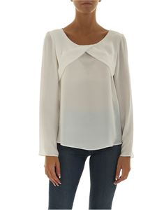 Emporio Armani - White blouse with crossover detail