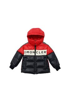 Moncler Jr - Febrege down jacket in blue and red