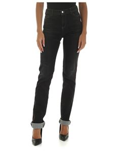 Emporio Armani - Black jeans with red stitching