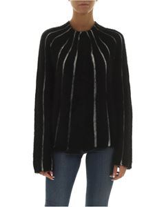 Emporio Armani - Black cardigan with white stripes