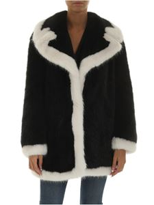 Emporio Armani - Black eco-fur with white details