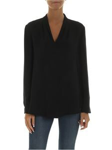 Emporio Armani - Black blouse with V-neck