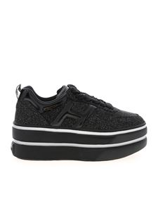 Hogan - H449 sneakers in black with glitter