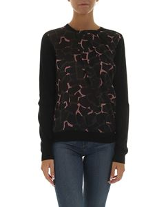 Emporio Armani - Black pullover with tulle detail