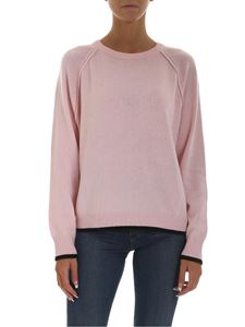 Emporio Armani - Pink pullover with black details