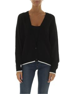 Emporio Armani - Black cardigan with white edges