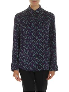 PS by Paul Smith - Purple shirt with parrots print
