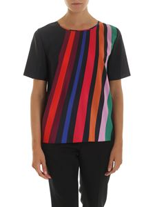 PS by Paul Smith - Black blouse with multicolor print