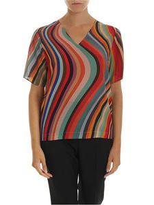 PS by Paul Smith - Mulcicolor silk blouse
