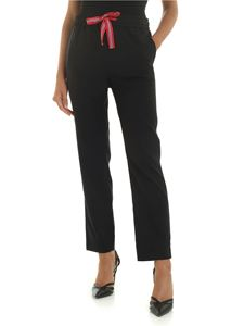 PS by Paul Smith - Black trousers with drawstring