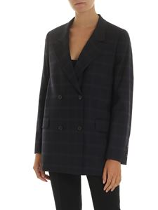PS by Paul Smith - Blue double-breasted jacket with checked pattern