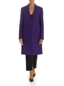 PS by Paul Smith - Cappotto in lana e cachemire viola