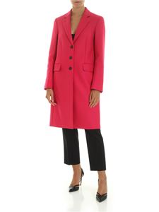 PS by Paul Smith - Wool and cashmere coat in fuchsia color