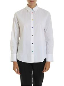 PS by Paul Smith - Camicia bianca con bottoni multicolor