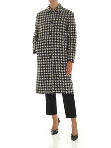 PS by Paul Smith - Ecrù and blue houndstooth coat