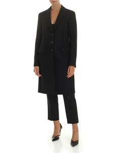 PS by Paul Smith - Wool and cashmere coat in black