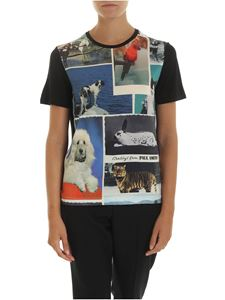 PS by Paul Smith - Printed t-shirt in black color