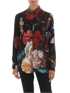 Paul Smith - Black shirt with multicolor floral print