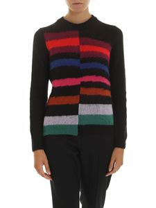 Paul Smith - Black pullover with multicolor inlays