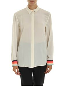 Paul Smith - Silk shirt in ivory color with multicolor details