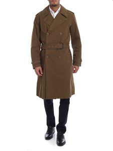 Aspesi - Faded-effect trench coat in Olive green