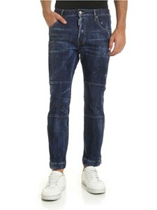 Dsquared2 - Biker Ski jeans in blue with zip on the bottom