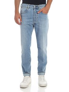 Golden Goose Deluxe Brand - Destroyed effect jeans in light blue
