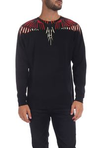 Marcelo Burlon - T-shirt Geometric Wings nera