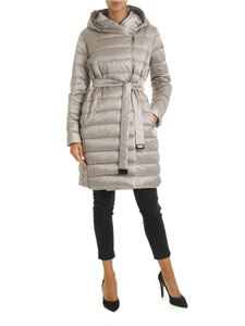 Max Mara - Novef reversible down jacket in dove grey