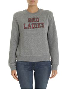 Red Valentino - Red ladies print sweatshirt in gray