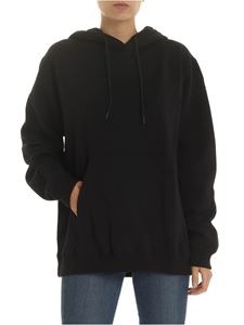 MSGM - Oversized hoodie with MSGM print in black
