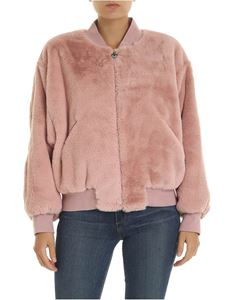 Chiara Ferragni - Eco fur bomber in antique pink