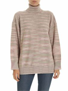 M Missoni - Oversize pullover in beige and pink
