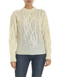 Pinko - Etiope pullover in ivory color