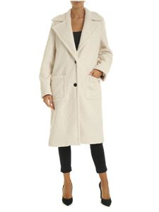 Pinko - Favola coat in ivory color