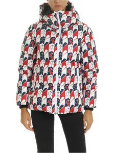 Rossignol - Abscisse down jacket in white, blue and red