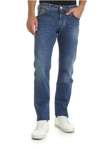 Jacob Cohën - 5-pocket blue jeans with silver button