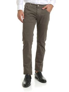 Jacob Cohën - Micro checked trousers in light brown